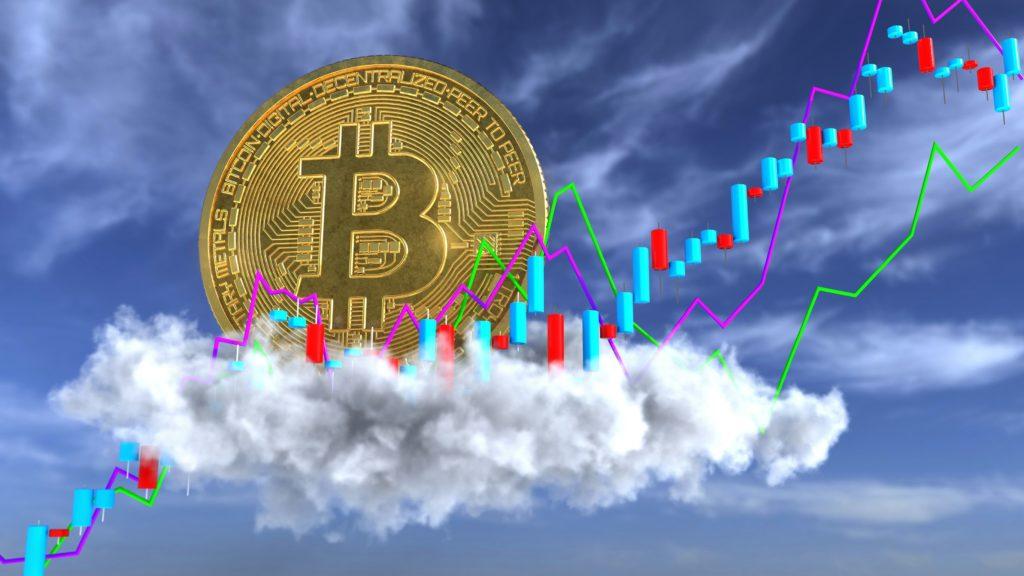 Bitcoin irgendwo über den Wolken